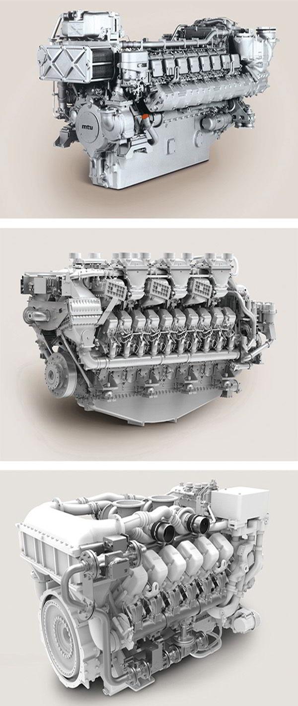 Das gesamte Sortiment an MTU-Motoren und -Teilen ist bei Engine Family erhältlich.