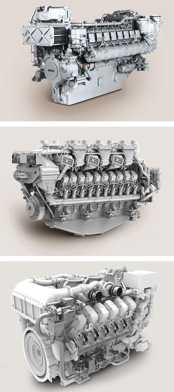 La gamme complète de moteurs et de pièces MTU est disponible à partir de Engine Family.