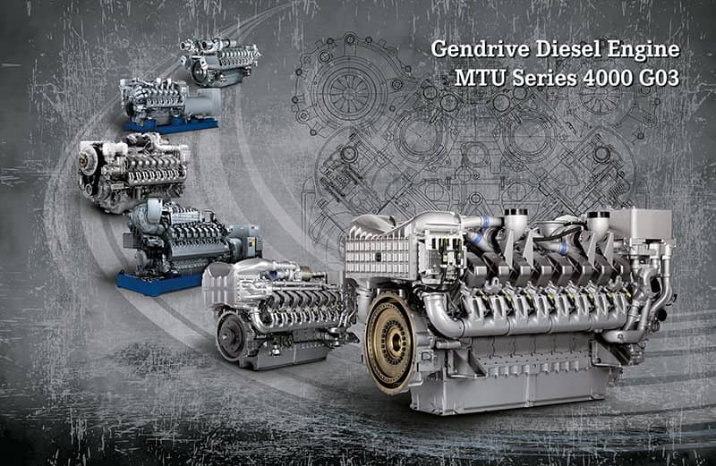 MTU 4000 G03 Series Engines