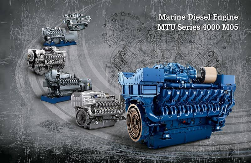 Motoren der MTU 4000 M05-Serie