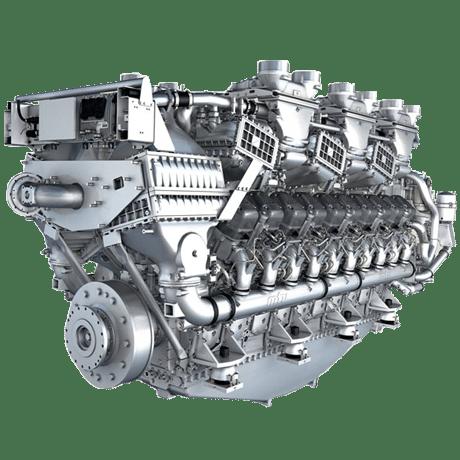 Motor diesel MTU e peças