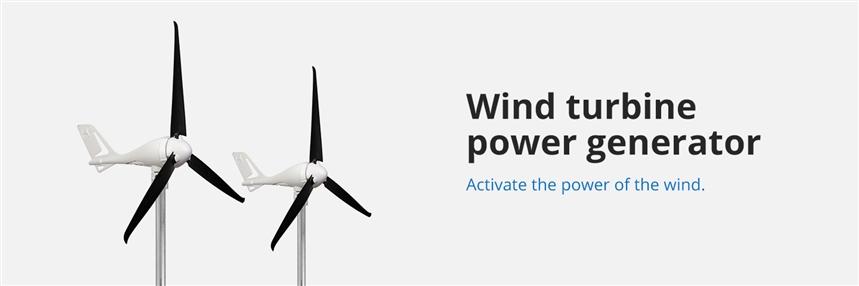 350W wind turbine components